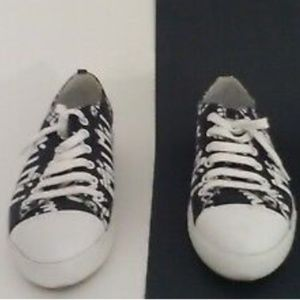 Miu Miu Shoes - MIU MIU Women's Black Logo Printed Sneakers $645